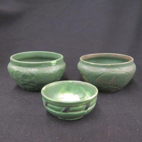 3 pcs. Arts & Crafts Era Pottery,