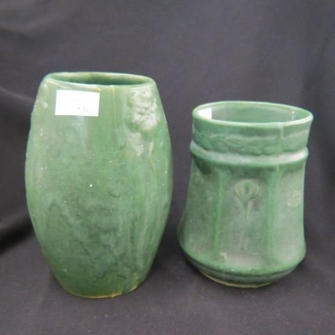 2 Arts & Crafts Pottery Vases,