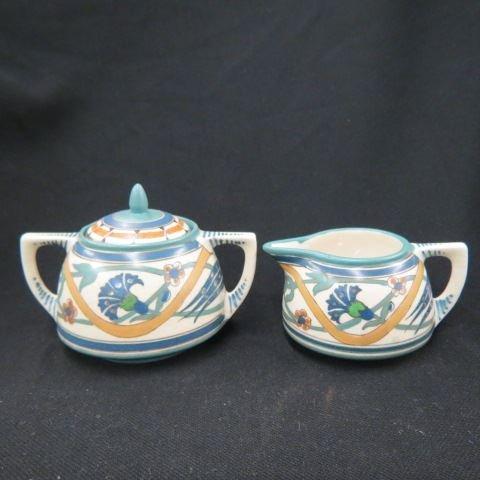 Arts & Crafts Pottery Creamer & Sugar,
