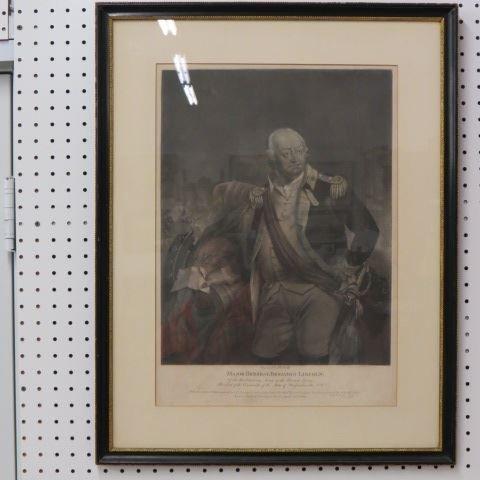 1811 Mezzotint Engraving of Major General