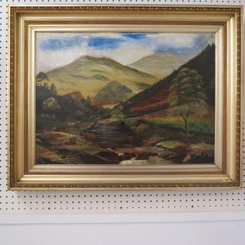 Antique Oil Painting,