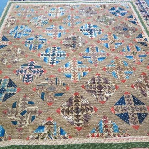Early Antique Handmade Quilt, circa 1855,
