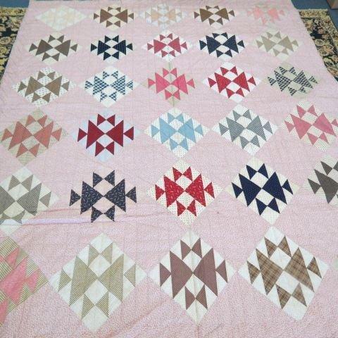 Early Antique Handmade Quilt, circa 1860,