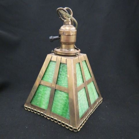 Arts & Crafts Hanging Lamp,
