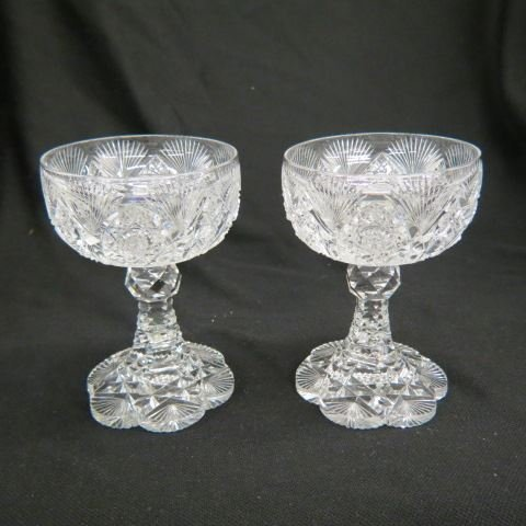Pair of Cut Glass Wines,