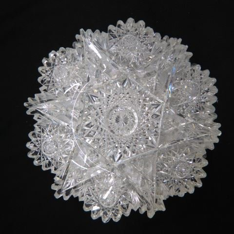 Set of 6 Cut Glass Dishes,