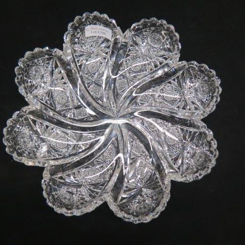 """Hawkes """"Comet"""" Cut Glass Dish,"""