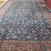 Mahal Persian Handmade Palace Size Rug, semi-antique,