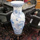 Chinese Blue & White Porcelain Palace Vase