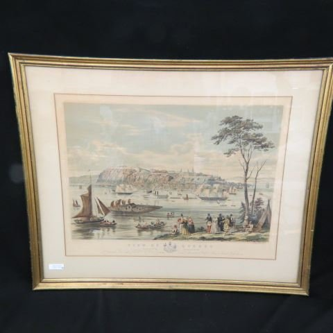 """Captain B. Beaufoy, lithograph """"View of Quebec"""", 1850"""