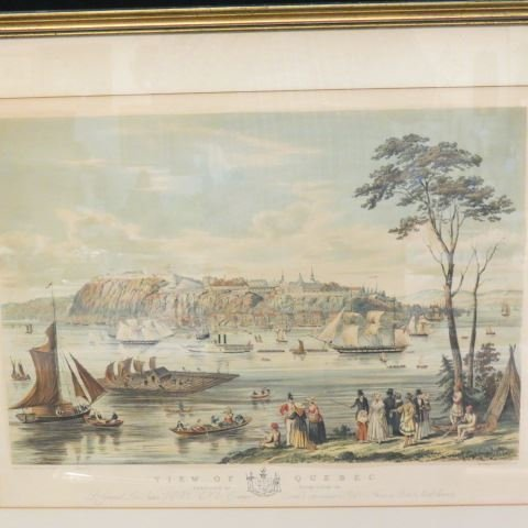 """Captain B. Beaufoy, lithograph """"View of Quebec"""", 1850 - 3"""