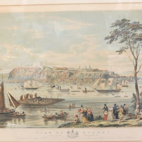 """Captain B. Beaufoy, lithograph """"View of Quebec"""", 1850 - 4"""