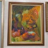 Margaret Kelly, oil, still life with fruit,