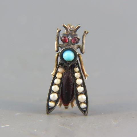 14k Gold Figural Bee Brooch,