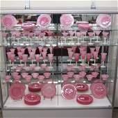 74 pc. Steuben Art Glass Table Service,