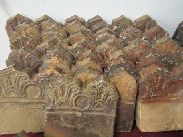 Lot of 24 Georgia Slave Pottery Tiles,