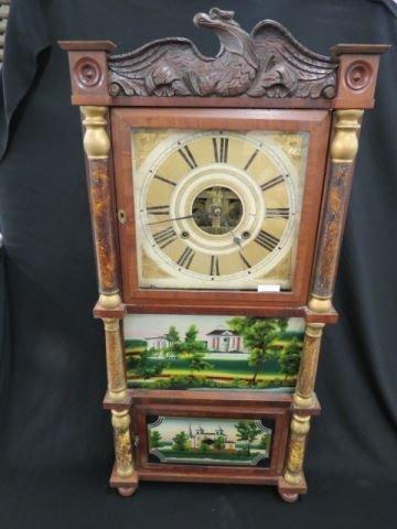 Birge, Mallory & Co. Triple Decker Clock,