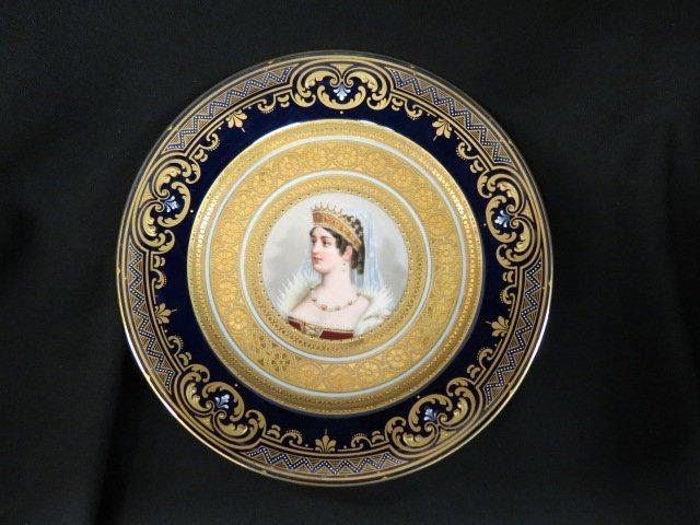 Royal Vienna Porcelain Portrait Plate,