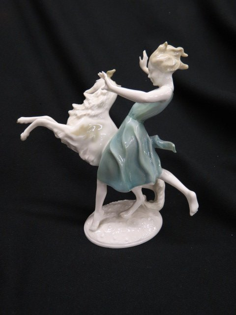 Hutschenreuther Porcelain Figurine of Girl,