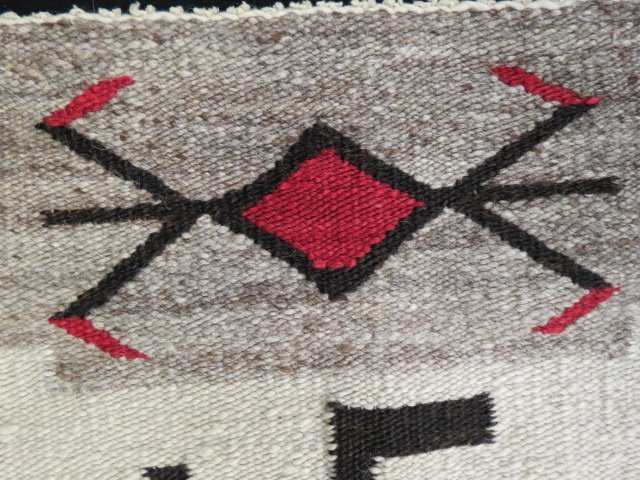 Native American Indian Saddle Blanket, - 3