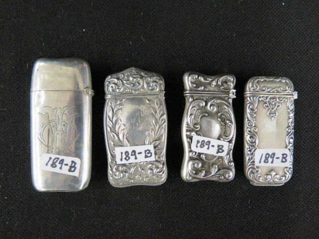 4 Sterling Silver Match Safes,