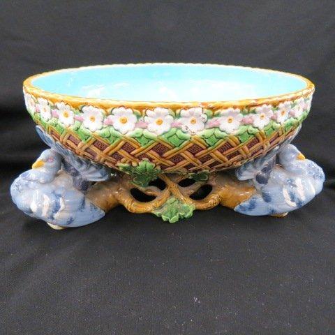 Minton Majolica Pottery Centerpiece,