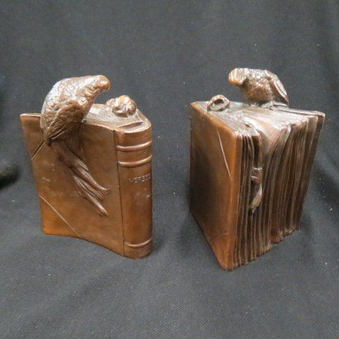 Pair of Bronze Bookends,