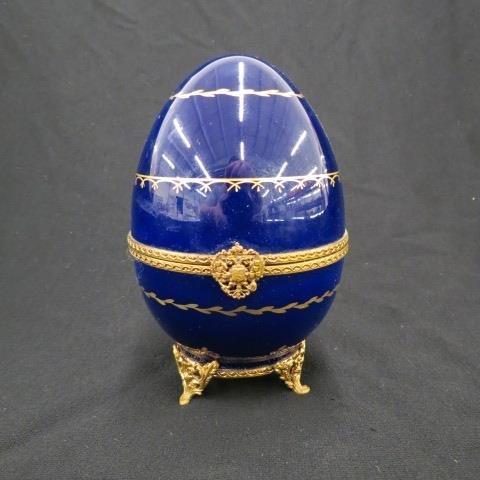 Faberge Limoges Porcelain Egg Box,