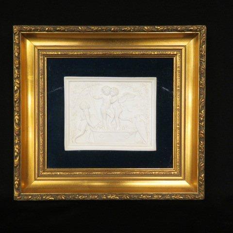 19th Century Parian Plaque of Cupid,