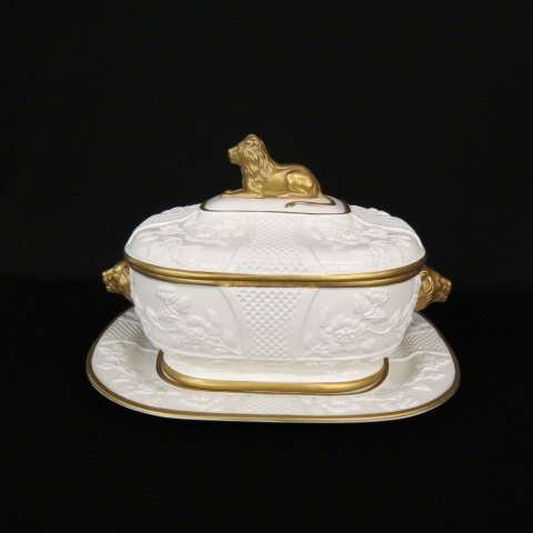 Mildred R. Mottahedeh Signed Tureen and Underplate
