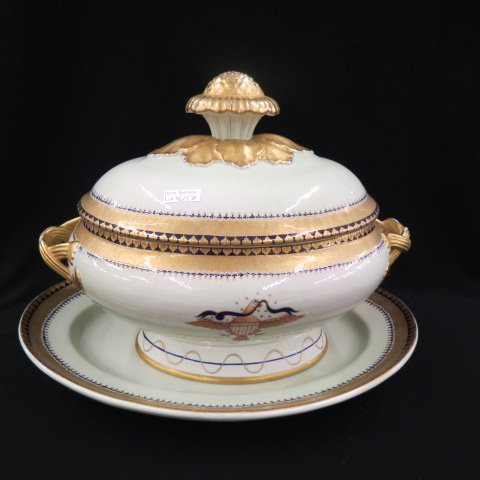 Mottahedeh Chinese Export Style Porcelain Soup
