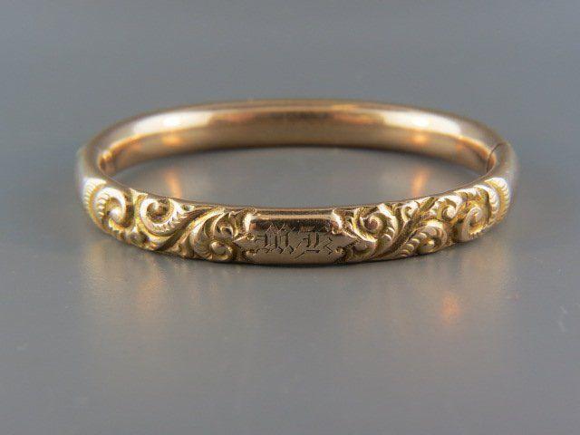 Victorian Gold-Filled Bangle Bracelet,