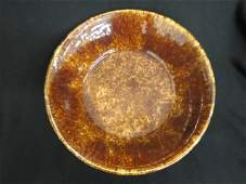 Bennington or Rockingham Pottery Bowl