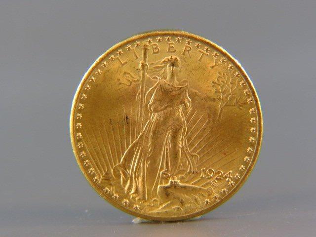 1924 U.S. $20.00 St. Gaudens Gold Coin,