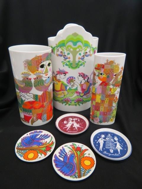 7 Bjorn Wiinblad Rosenthal Porcelain Items;