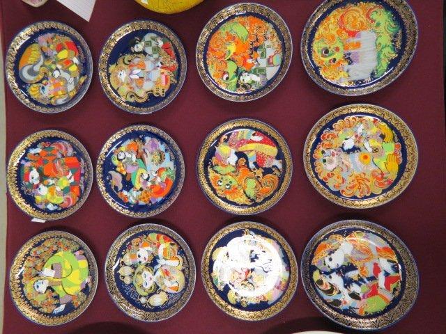 12 Bjorn Wiinblad Rosenthal Porcelain Plates,