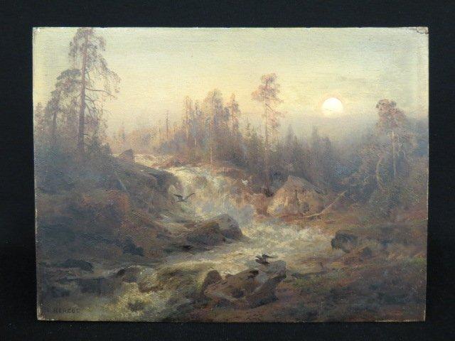 Hermann Herzog, oil,