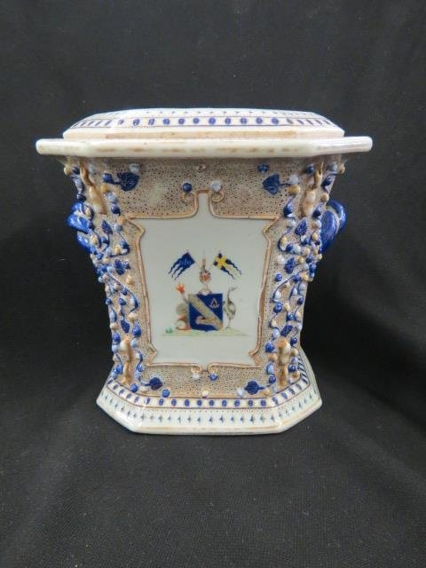 Chinese Armorial Porcelain Bough Vase,