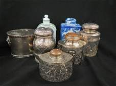 14 pc. Collection of Tea Caddy Boxes & Spoons,