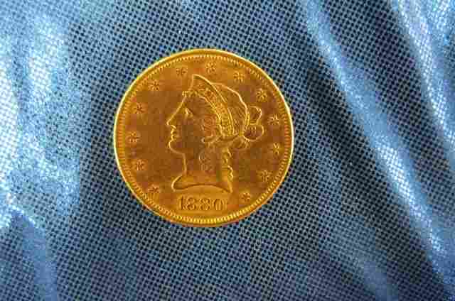 1880-S U.S. $10.00 Liberty Head Gold Coin,