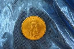 1908 U.S. $20.00 St. Gaudens Gold Coin,
