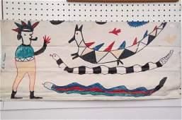 Reuben A Miller Folk Art Tin Plaque