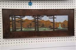 Arts & Crafts Art Pottery Tiles, framed