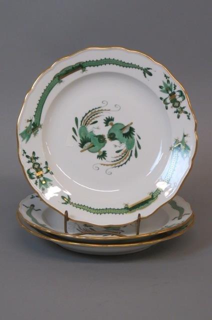 3 Meissen Porcelain Plates,