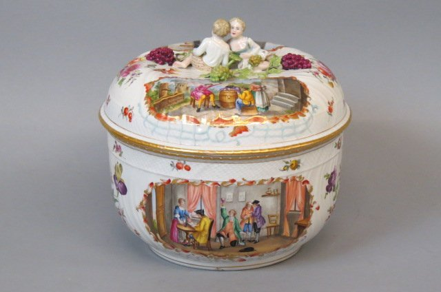 Dresden Porcelain Handpainted Tureen,