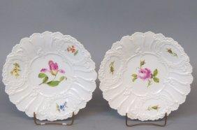 Pair of Meissen Porcelain Serving Dishes,