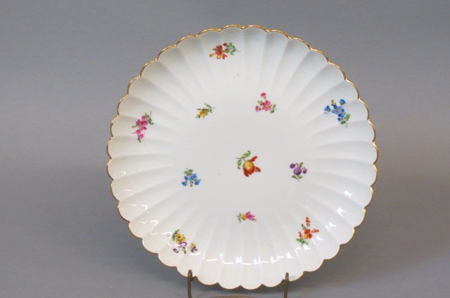Meissen Porcelain Round Serving Tray,