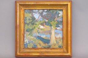 Steve Gerhartz Oil Painting Of A Landscape