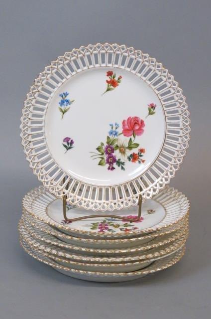 7 Handpainted Porcelain Plates,