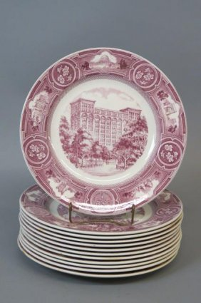 "12 Wedgwood ""new York University"" Alumni Plates,"